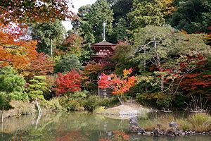Jōruri-ji - Pagoda at Joruri-ji, reconstructed in 1178.