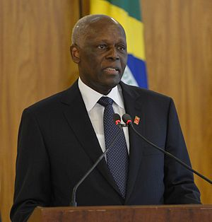 Constitution of Angola - José Eduardo dos Santos who won and became the President of Angola in the elections
