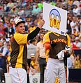 Jose Fernandez rolls out the Scream emoji during Giancarlo Stanton's -HRDerby performance. (28571140475).jpg