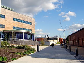 Derby College - The entrance of the Joseph Wright centre
