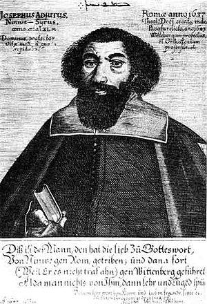 Josephus Adjutus - Josephus Adjutus on a 1647 woodcut by Johann Michael Dilherz