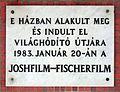 Joshfilm-Fischerfilm plaque (Budapest-03 Szentendrei út 18).jpg