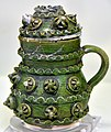 Jug with lid, with rosette decoration. Canakkale, glazed. 2nd half of the 19th century-beginning of the 29th century CE. Museum of Islamic Art (Tiled Kiosk), Istanbul.jpg