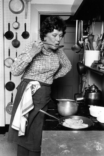 Julia Child portrait by ©Lynn Gilbert, 1978
