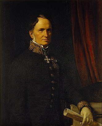 Just Mathias Thiele - Just Mathias Thiele, portrait by Wilhelm Marstrand. Thorvaldsens Museum