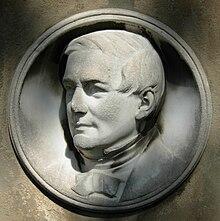 Heinrich Carl Breidenstein, Marmor-Medaillon von Albert Küppers auf dem Alten Friedhof Bonn (Quelle: Wikimedia)