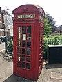 K2 telephone kiosk, north end of Primrose Gardens, June 2018.jpg