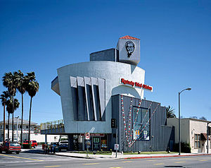 Fried chicken restaurant - A Kentucky Fried Chicken outlet in Los Angeles, opened in 1990