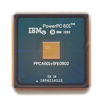 PowerPC 600 - An IBM manufactured 90 MHz PowerPC 601v. Notice the slightly smaller die