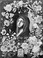 KMS Stroe 535 Ubekendt - Jomfru Maria med et blåt slør, ses i en blomsterkrans - KMSst535 - Statens Museum for Kunst.jpg