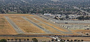 Reid–Hillview Airport - View of the airport from the south
