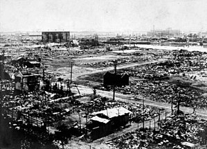 A view of the destruction in Yokohama