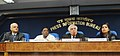Kapil Sibal addressing a press conference, in New Delhi. The Minister of State for Personnel, Public Grievances & Pensions and Prime Minister's Office, Shri V. Narayanasamy, the Secretary (Telecommunications).jpg