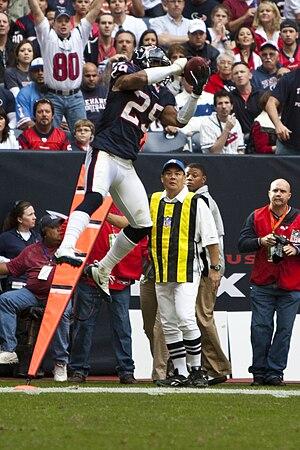 Kareem Jackson - Jackson intercepting a pass.