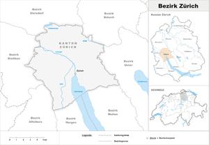Zürich District - Image: Karte Bezirk Zürich 2007
