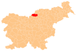 The location of the Municipality of Črna na Koroškem