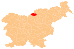 Location of the Municipality of Črna na Koroškem in Slovenia