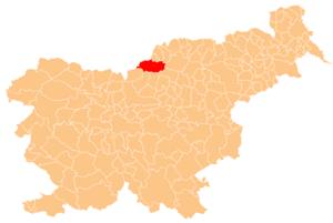 Municipality of Črna na Koroškem - Image: Karte Crna na Koroskem si