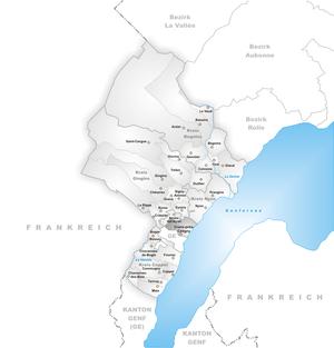 Crans-près-Céligny - Image: Karte Gemeinde Crans près Céligny