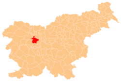Location of the Municipality of Škofja Loka in Slovenia