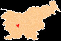 Vị trí của Vrhnika ở Slovenia