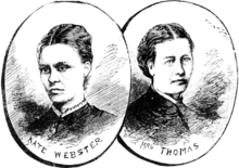 Drawing of two women with black hair and black clothes