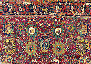 Persian carpet - Safavid Kerman 'vase' carpet fragment, southeast Persia, early 17th century