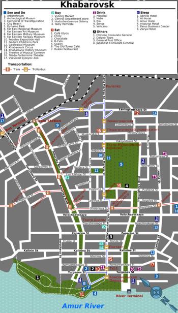 Схема центральных улиц