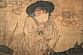 Kim Hong-do. The viewer. Screen.Genre painting,detail. Musée Guimet MA 2544.jpg