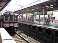 Kintetsu 2410 series 2517 at Tsuruhashi Station 02.jpg