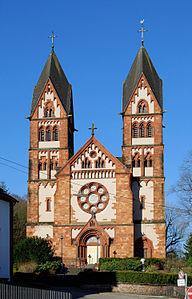 Church St. Lutwinus in Mettlach, Saarland.