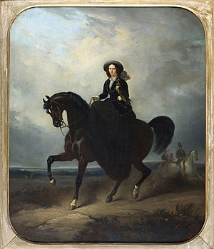 Sophie of Württemberg - The Queen riding a horse