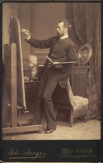 Julius Kronberg - Kronberg at work