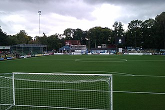 Åtvidabergs FF - Kopparvallen before the 2011–2012 stadium rebuild.