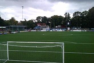 Åtvidabergs FF - Kopparvallen before the 2011–2012 stadium rebuild.