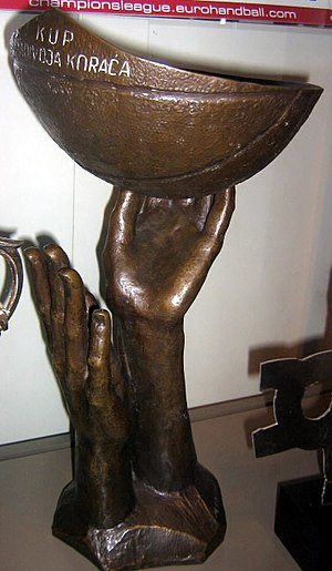 Radivoj Korać - The Žućko's left trophy, that was awarded to the winner of FIBA Radivoj Korać Cup.