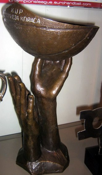 Radivoj Korać - The Žućko's left trophy, that was awarded to the winner of FIBA Radivoj Korać Cup.