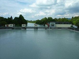 Lech (river) - Image: Kraftwerk Horn (Horn hydro power station) geo.hlipp.de 37358