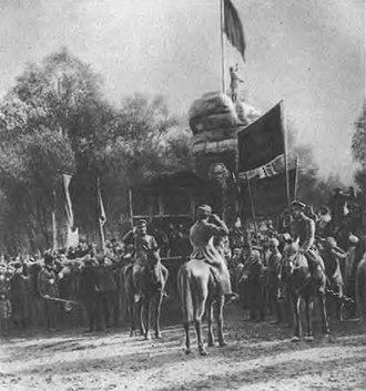 History of Turkmenistan - Hoisting the Red Banner in Tashkent 1917
