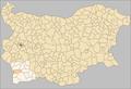 Kresna Municipality Bulgaria map.png