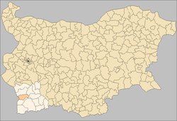 Kresna Municipality Bulgaria map.png