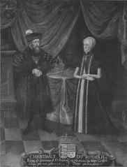 Kristian III, 1503-59,  konung av Danmark och Norge och Dorotea, 1511-71, prinsessa av Sachsen-Lauenburg