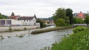 Kronach (Haßlach) - Image: Kronach Mündung Kronach Haßlach