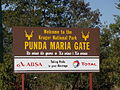 Kruger National Park - Sign at Punda Maria gate.JPG