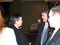 Kucinich, Sean Hannity, Kucinich adviser Embrich.jpg