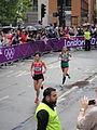 Kum-Ok Kim ^ Kyung-Hee Lim - London 2012 Women's Marathon.jpg