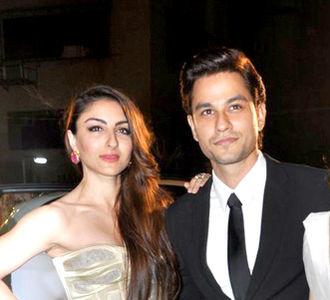 Soha Ali Khan - Khan with her husband Kunal Khemu.