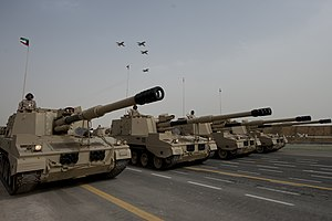 PLZ-45 - Kuwaiti PLZ-45 Self-propelled Guns roll during the Kuwaiti National Day Military Parade on Feb. 26, 2011.