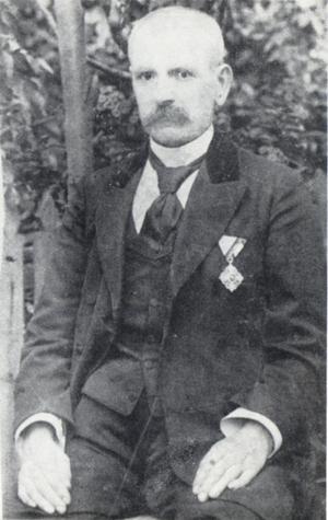 "Kuzman Shapkarev - Kuzman Shapkarev decorated with the Bulgarian Order ""For Civil Merit"","