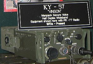 KY-57 - A KY-57 on display at the National Cryptologic Museum.